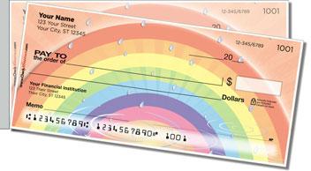 Rainbow Side Tear Personalized Checks