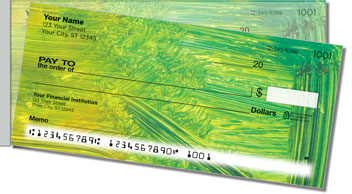 Colorful Brush Stroke Side Tear Personalized Checks