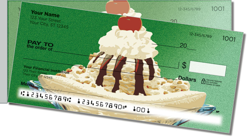 Ice Cream Side Tear Personal Checks