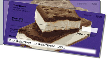 Ice Cream Side Tear Personalized Checks