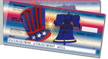 Patriotic Party Side Tear Personalized Checks