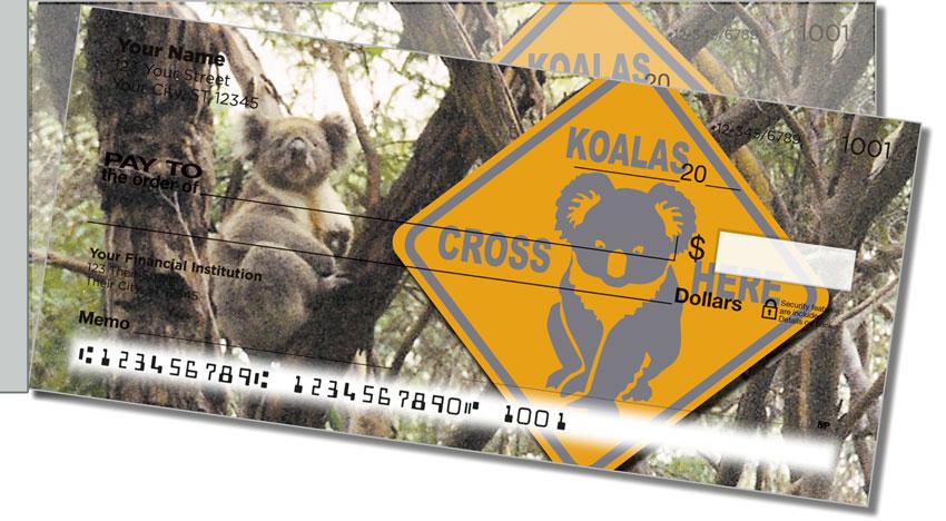 Animals of Australia Side Tear Personal Checks