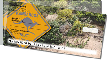 Animals of Australia Side Tear Personalized Checks
