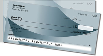 Simple Fade Side Tear Personalized Checks