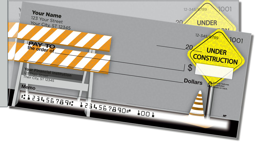 Road Construction Side Tear Personal Checks