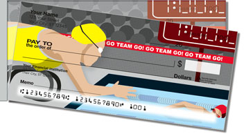 Swimming Side Tear Personalized Checks