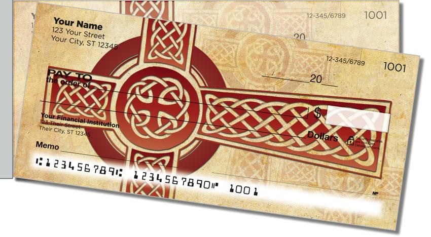 Celtic Cross Side Tear Personal Checks