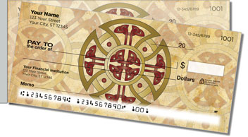 Celtic Cross Side Tear Personalized Checks