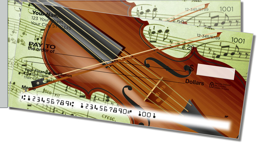 Musical Instrument Side Tear Personal Checks