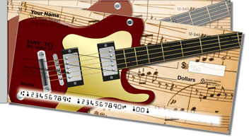 Musical Instrument Side Tear Personalized Checks