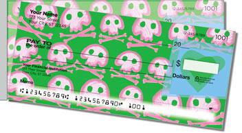 Cute Skull & Crossbones Side Tear Personalized Checks