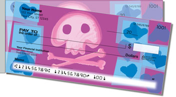 Cute Skull & Crossbones Side Tear Theme Checks