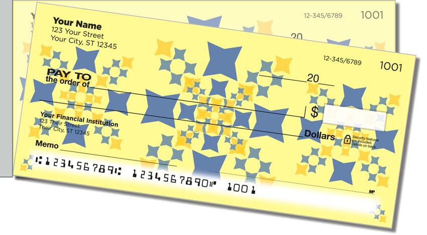 Polygon Pattern Side Tear Personal Checks