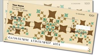 Polygon Pattern Side Tear Personalized Checks