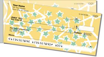 Star Sketch Side Tear Personalized Checks