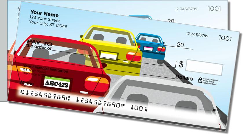 Traffic Jam Side Tear Personal Checks