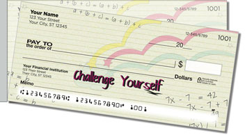 Inspiring Doodle Side Tear Personalized Checks