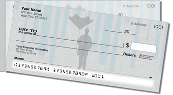 Spring Shower Side Tear Personalized Checks