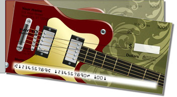 Electric Guitar Side Tear Personalized Checks