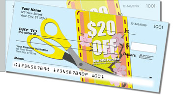 Coupon Clipper Side Tear Personalized Checks