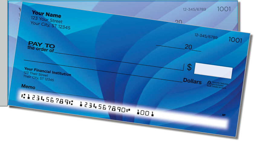 Colorful Energy Side Tear Personal Checks