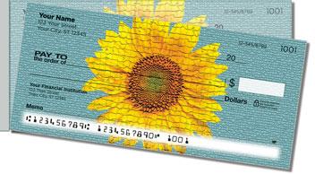 Artistic Sunflower Side Tear Design Checks