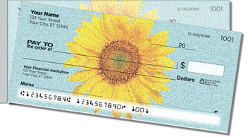 Artistic Sunflower Side Tear Personalized Checks