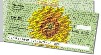 Artistic Sunflower Side Tear Theme Checks