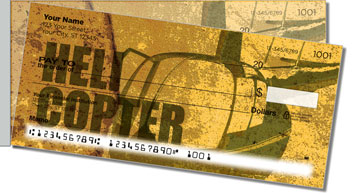 Helicopter Side Tear Personalized Checks