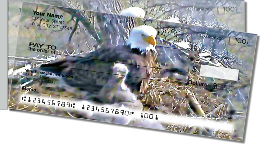Nesting Eagle Side Tear Personal Checks