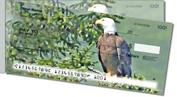 Nesting Eagle Side Tear Theme Checks