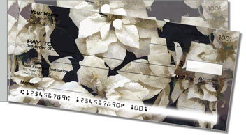 Poinsettia Side Tear Personalized Checks