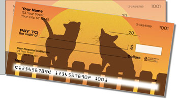 Cat Nightlife Side Tear Design Checks