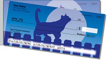 Cat Nightlife Side Tear Personalized Checks