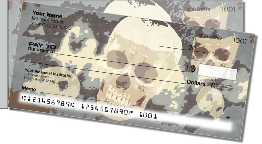 Scary Skull Side Tear Personal Checks