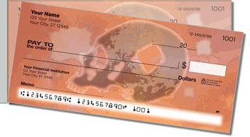 Scary Skull Side Tear Personalized Checks