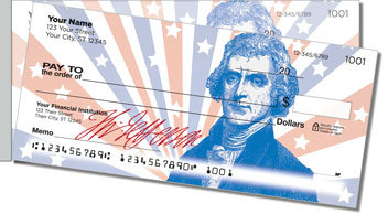 Founding Father Side Tear Personalized Checks