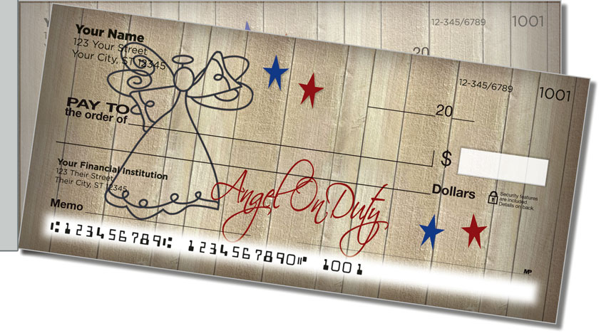 Country Angel Side Tear Personal Checks