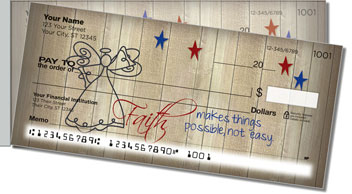 Country Angel Side Tear Personalized Checks