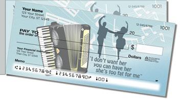 Polka Music Side Tear Personalized Checks