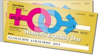 Women's Equality Side Tear Personalized Checks
