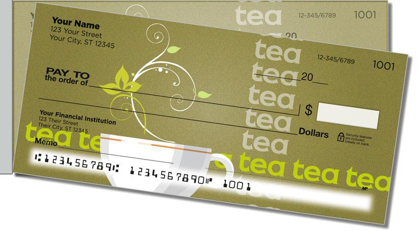 Tea Time Side Tear Personal Checks