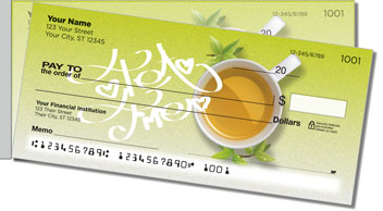 Tea Time Side Tear Personalized Checks