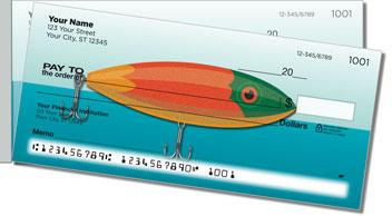 Fishing Lure Side Tear Personalized Checks