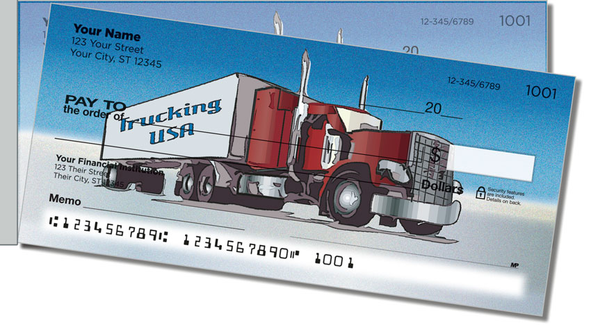 Semi Truck Side Tear Personal Checks
