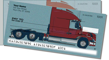 Semi Truck Side Tear Personalized Checks