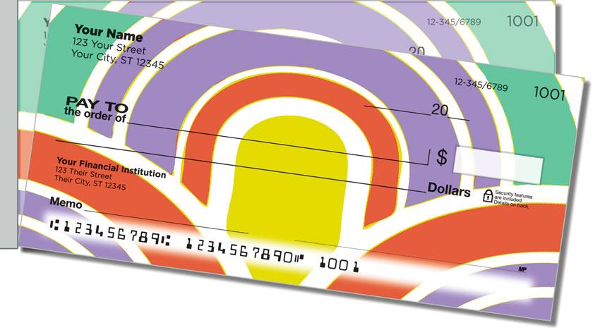 Bold Aura Side Tear Personal Checks