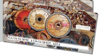 Antique Spool Side Tear Theme Checks