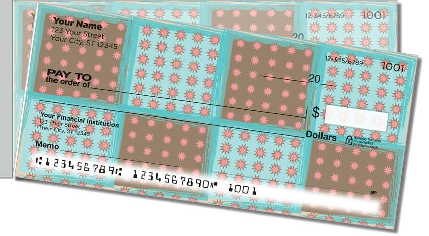 Pretty Pixel Side Tear Personal Checks