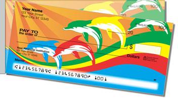 Rainbow Dolphin Side Tear Design Checks
